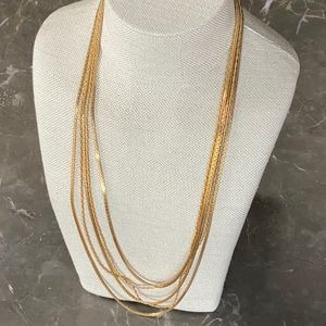 Necklace- gold dipped vintage
